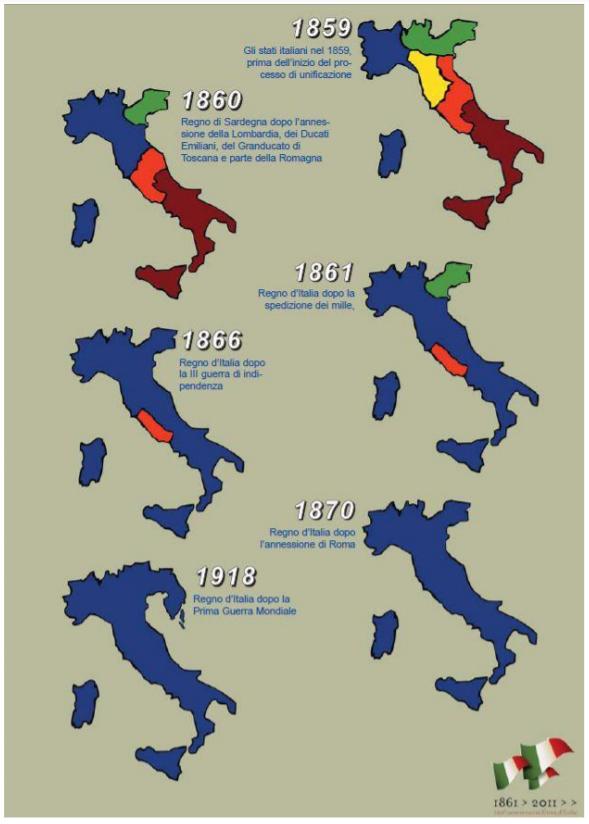 Cartina Dell Italia 1815.Risorgimento Silvana Poli